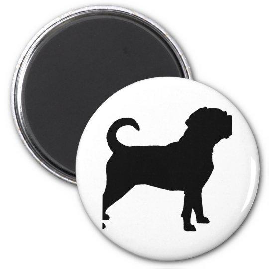 Puggle Dog Silhouette Magnet