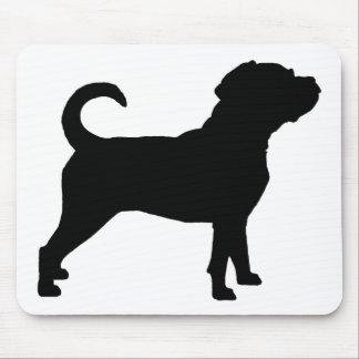 Puggle Dog Silhouette Mouse Pad