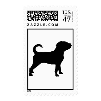Puggle Dog Silhouette Postage