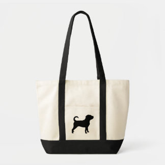 Puggle Dog Silhouette Tote Bag