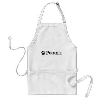 Puggle (estilo del pirata con el pawprint) delantales