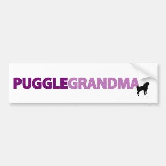 Puggle Grandma Bumper Sticker