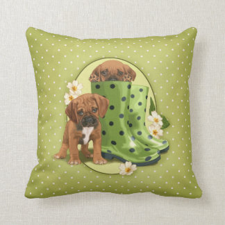 Puggle in boots pillow