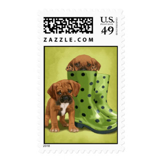 Puggle in boots postage