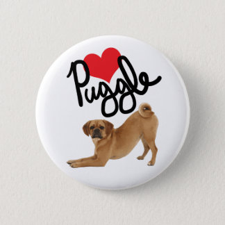 Puggle Lover Button | By Mini Brothers