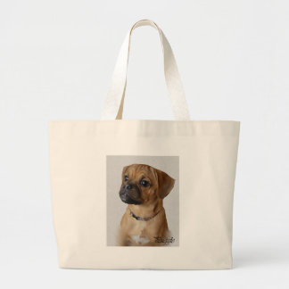 Puggle Lovers Gifts Large Tote Bag