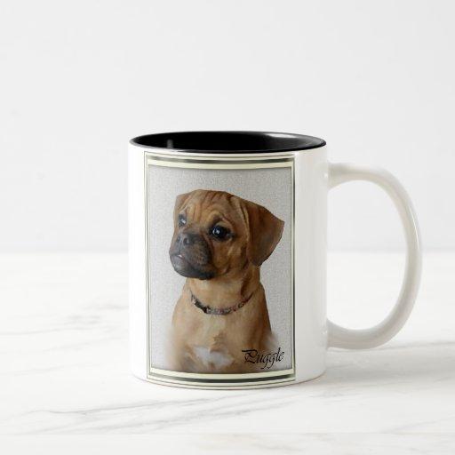 Puggle Lovers Gifts Two-Tone Coffee Mug