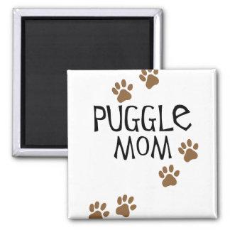 Puggle Mom 2 Inch Square Magnet