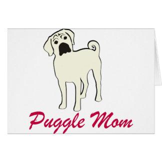 Puggle Mom Card