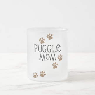 Puggle Mom Frosted Glass Coffee Mug