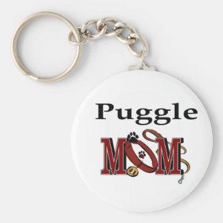 Puggle Mom Gifts Keychain