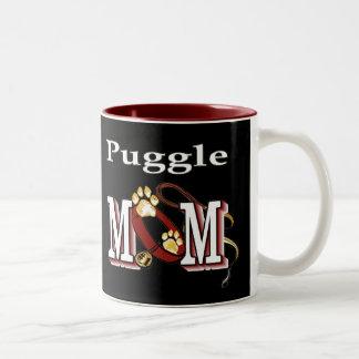 Puggle Mom Gifts Two-Tone Coffee Mug