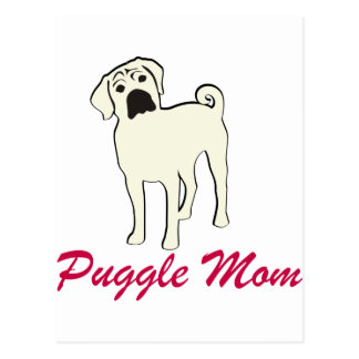 Puggle Mom Postcard