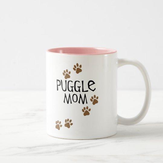 Puggle Mom Two-Tone Coffee Mug