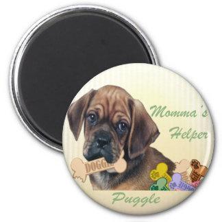 Puggle Momma's helper magnet