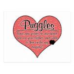 Puggle Paw Prints Dog Humor Post Card