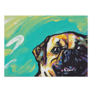 Puggle Pop Art Dog Poster Print