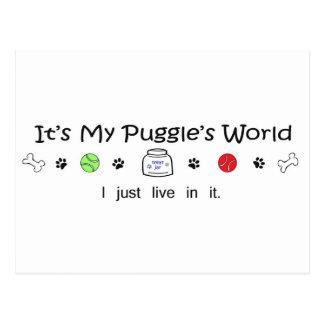 Puggle Postcard