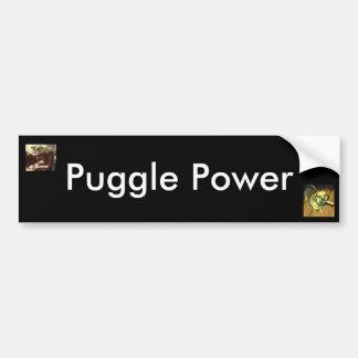 Puggle Power Car Bumper Sticker