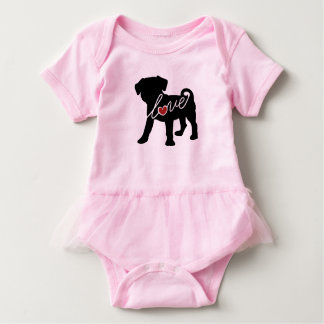 Puggle (Pug / Beagle) Love Baby Bodysuit