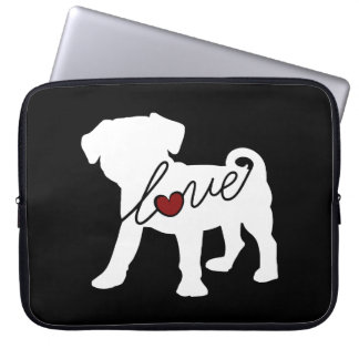 Puggle (Pug / Beagle) Love Laptop Sleeve