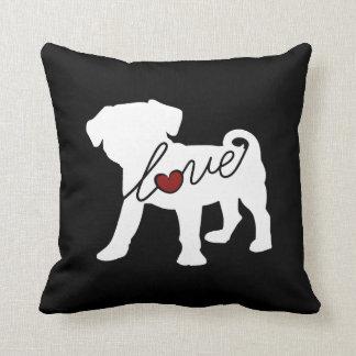 Puggle (Pug / Beagle) Love Throw Pillow