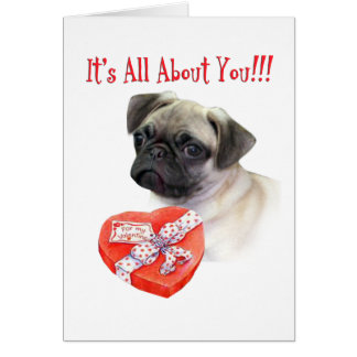 Puggle Puppy all about You Greeting Cards