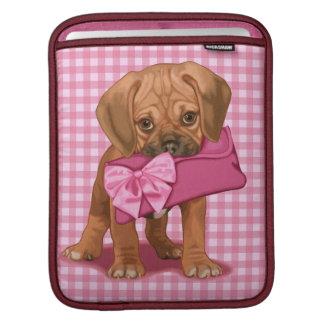 Puggle Puppy and Clutch iPad Sleeve
