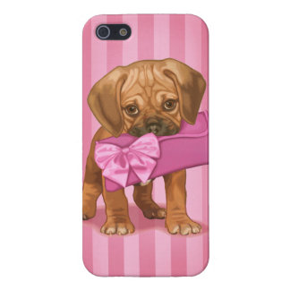 Puggle Puppy and Clutch iPhone 5 Cases