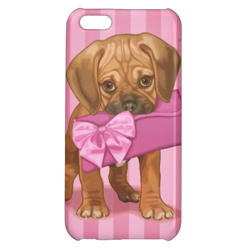Puggle Puppy and Clutch iPhone 5C Case
