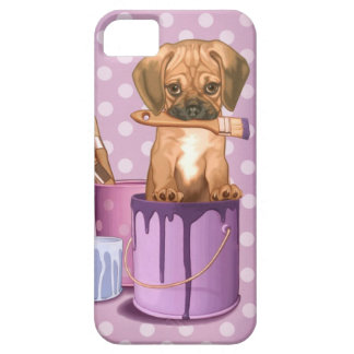 Puggle puppy in painting pot iPhone SE/5/5s case