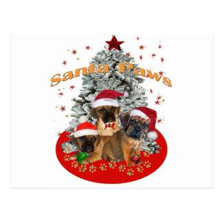 Puggle Santa Paws Postcard