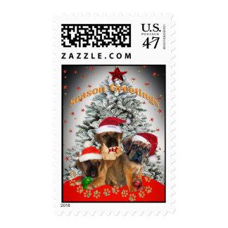 Puggle Season Greeting Postage Stamps