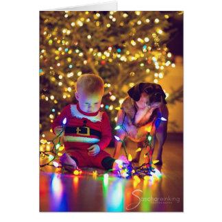 ¡Puggle! Tarjeta de Navidad