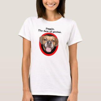 Puggle. The face of genius. T-Shirt