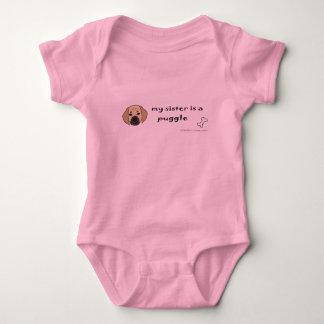 PuggleFawnSister Baby Bodysuit