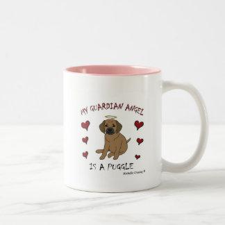 PuggleTan Two-Tone Coffee Mug