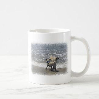 puggy classic white coffee mug