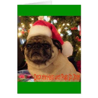 Puggy Greetings: Christmas Greeting Card