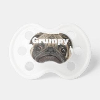 Puggy gruñón personalizado chupetes de bebe