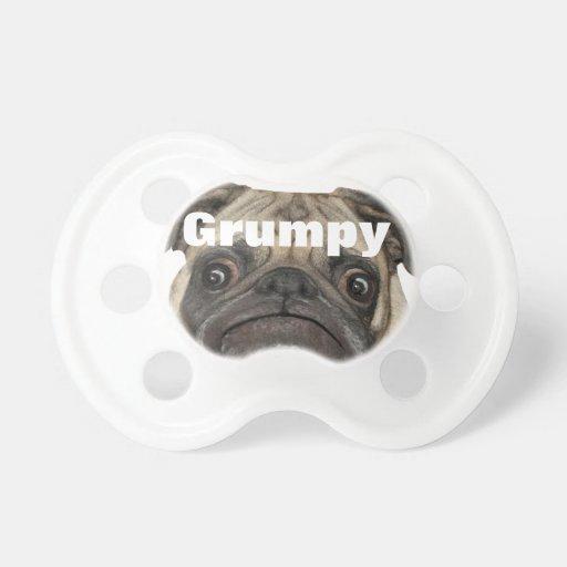 Puggy gruñón personalizado chupetes para bebes