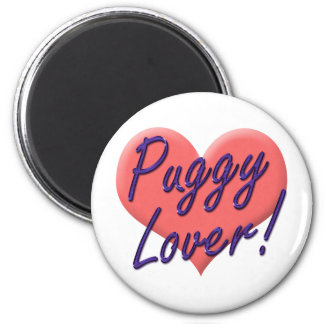 Puggy Lover Tees and Gifts by Audra Phillips Fridge Magnets