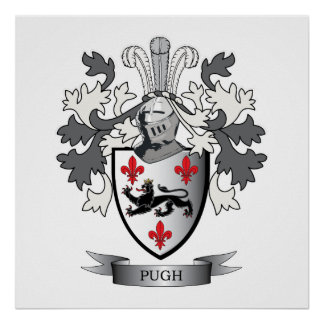 Pugh Family Crest Coat of Arms Poster