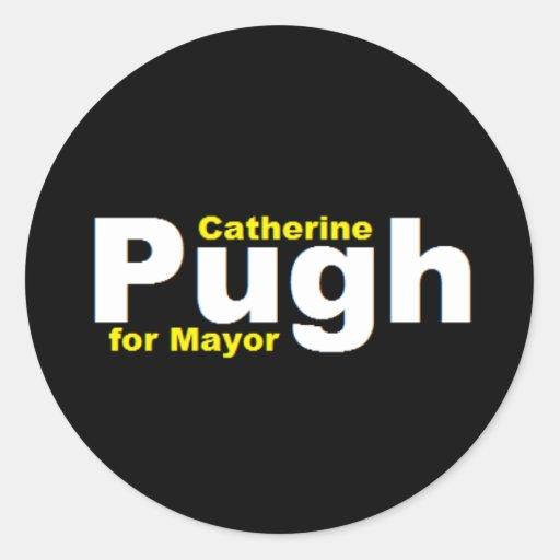 Pugh para alcalde Sticker Etiquetas Redondas