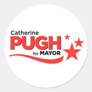 Pugh para alcalde Stickers Pegatina Redonda