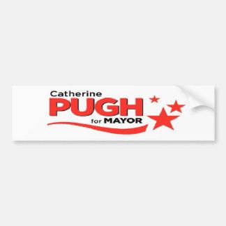 Pugh para el alcalde pegatina para el parachoques etiqueta de parachoque