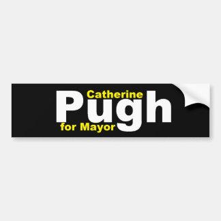 Pugh para el alcalde pegatinas para el parachoques pegatina de parachoque