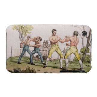 Pugilists, plate 31 from 'The History of the Natio iPhone 3 Case