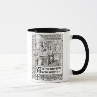 Pugin at work, frontispiece from 'True Principles Mug