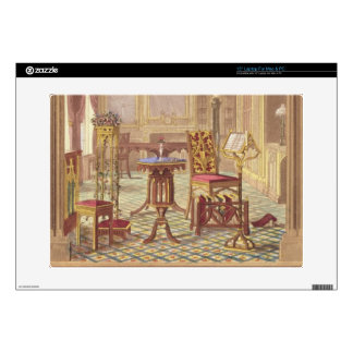 "Pugin's Gothic Furniture, by Augustus Charles Pugi 15"" Laptop Decal"